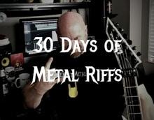 30 days of metal riffs - metal rhythm guitar lessons