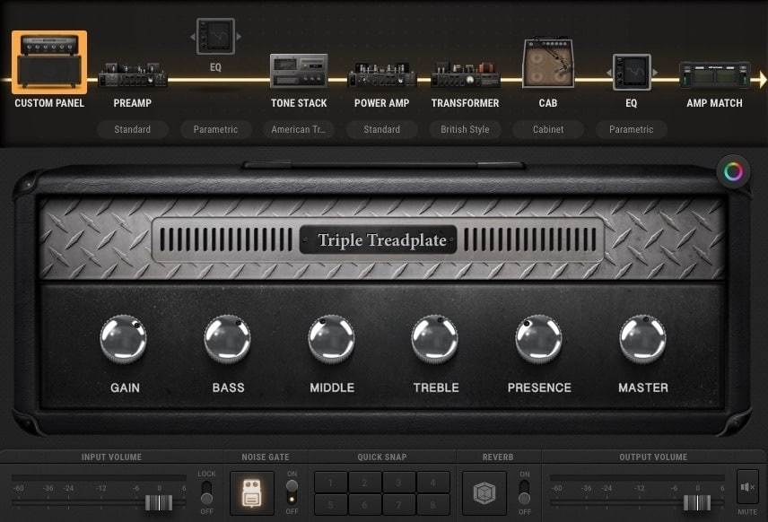 bias amp 2 triple treadplate metal tone