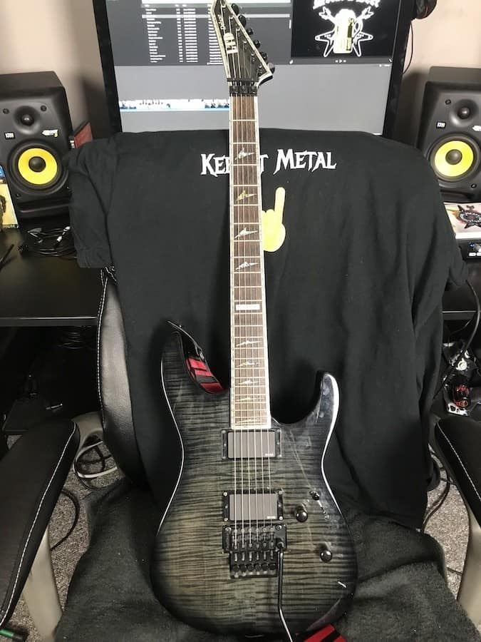 ESP LTD M-1000 Deluxe 6 string guitar