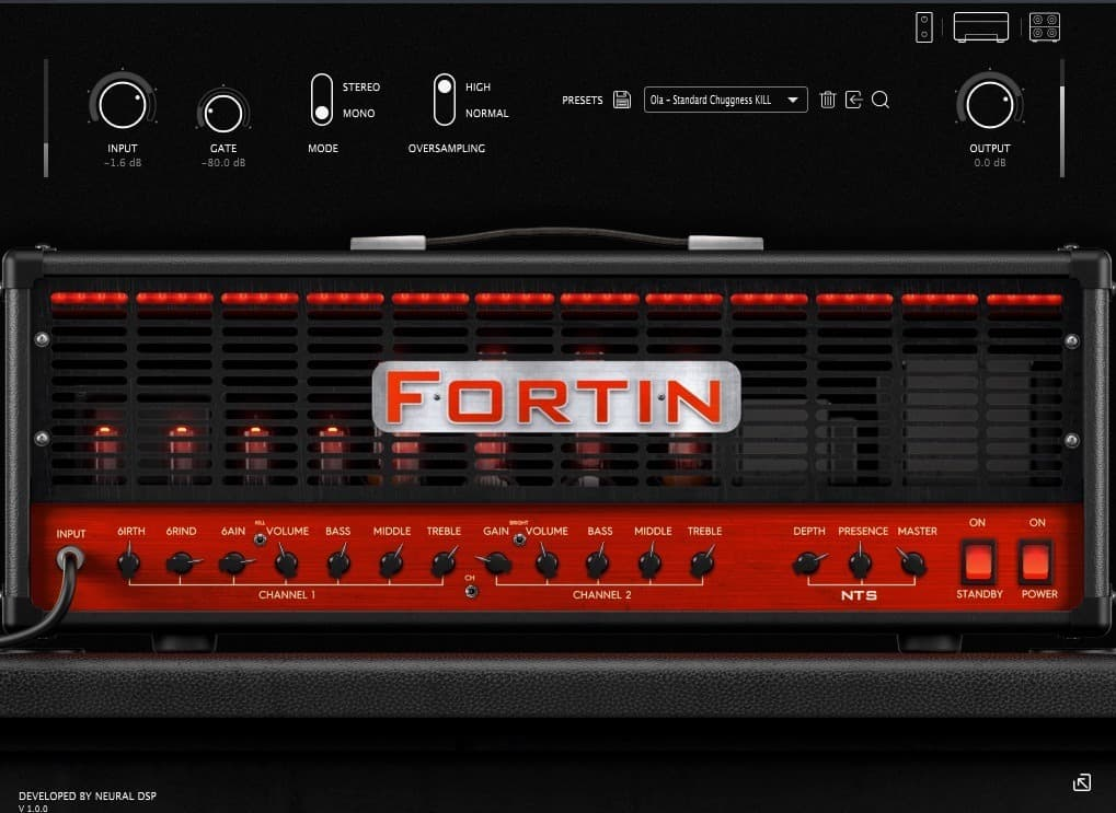 Fortin NTS plugin virtual metal amp sim