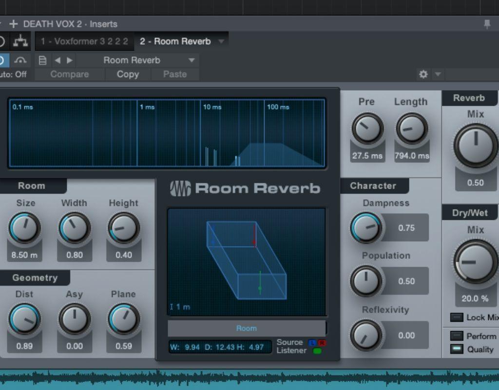 Presonus Studio One Reverb