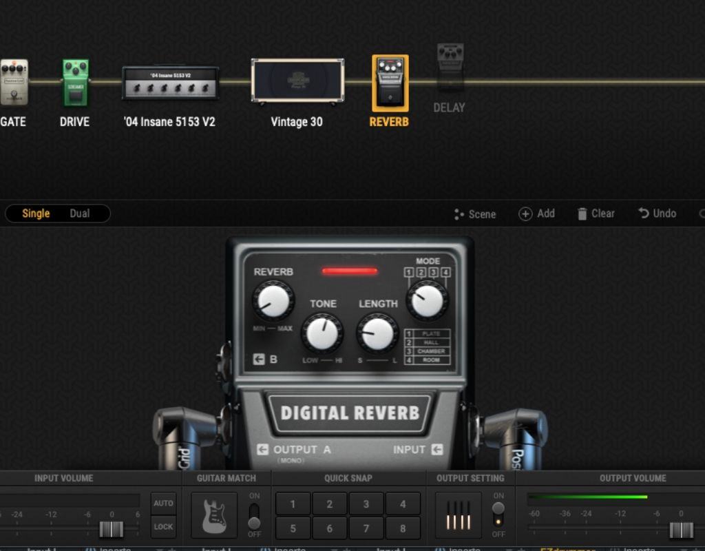 BIAS FX 2 digital reverb