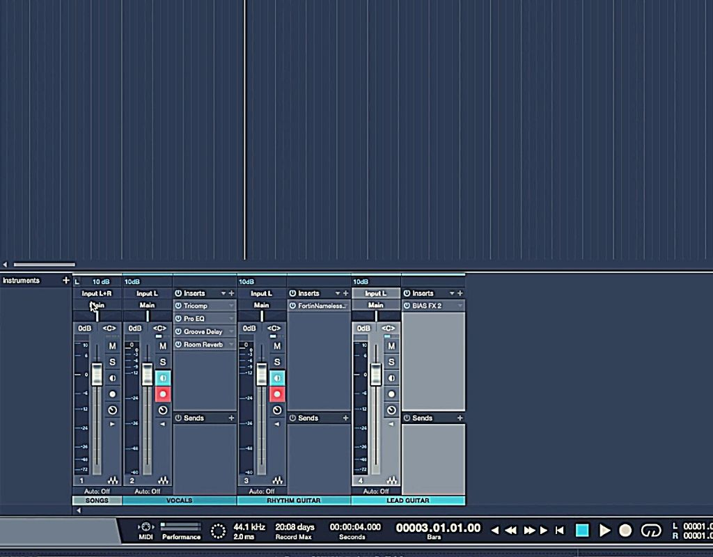 Presonus Studio One - tracks for live streaming