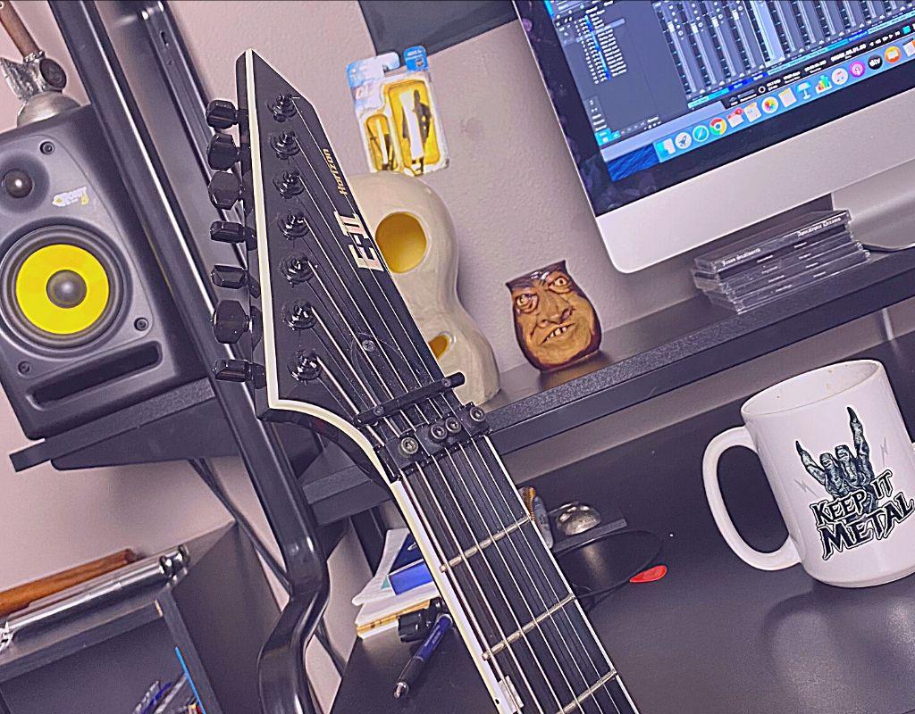 metal guitar home studio